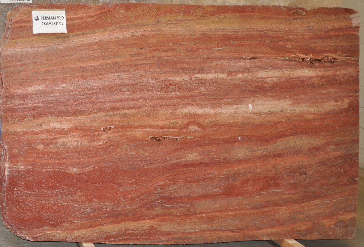 Red Persian Travertine 2 cm lot (3)